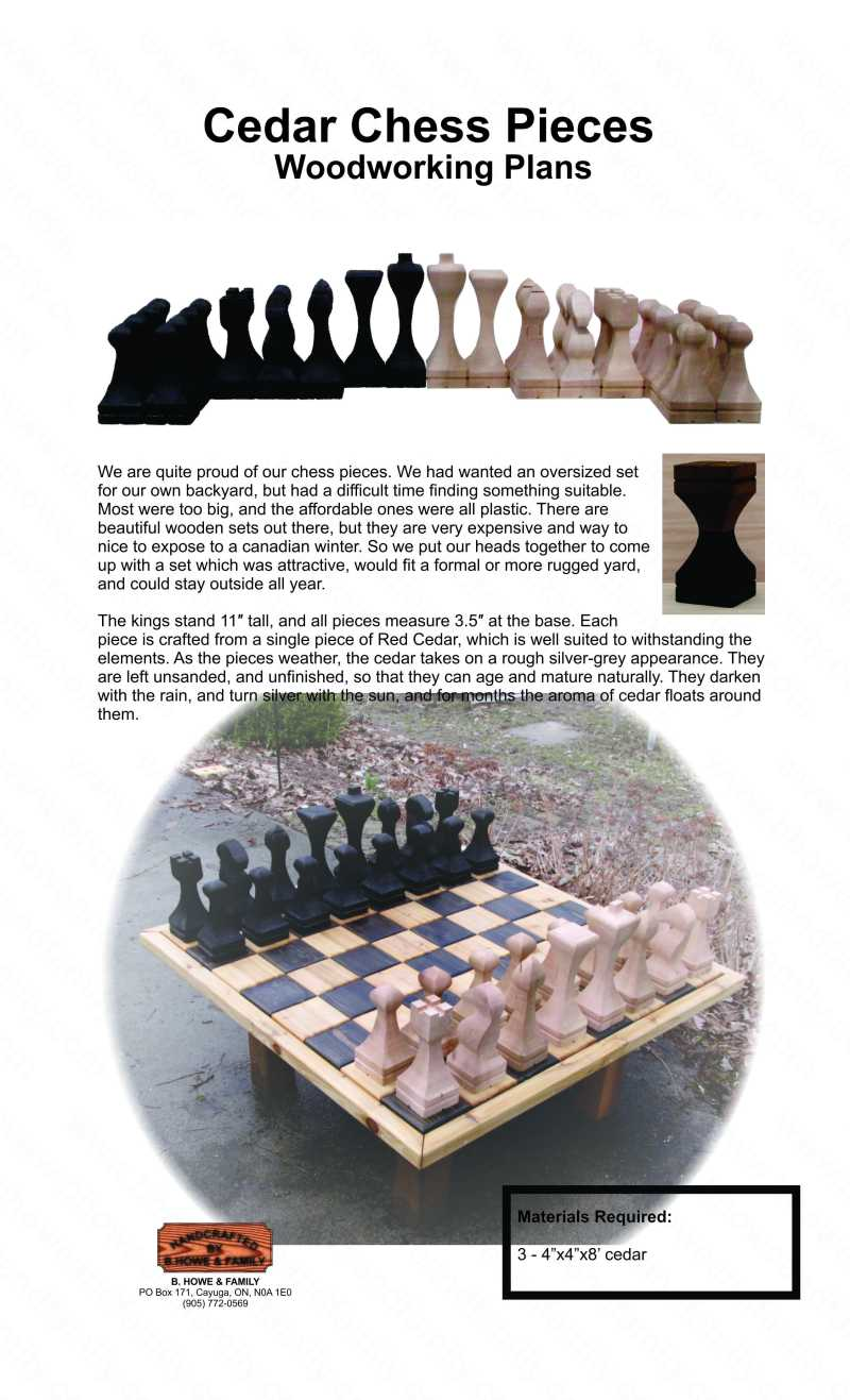 chess board plans pdf
