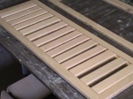 Slats roughly laid out