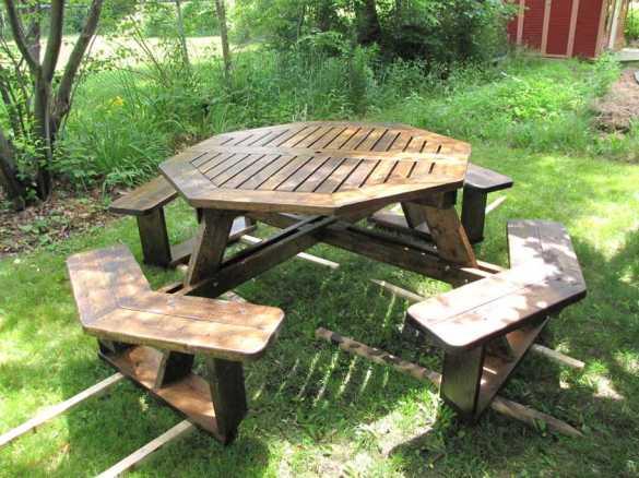 DIY Building Plans Octagon Picnic Table Download pergola instructions ...
