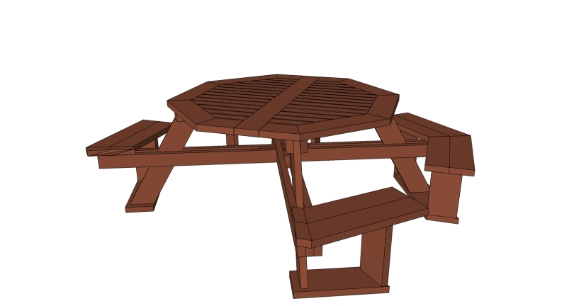 Learn picnic table kit instructions zine for Wheelchair accessible picnic table plans